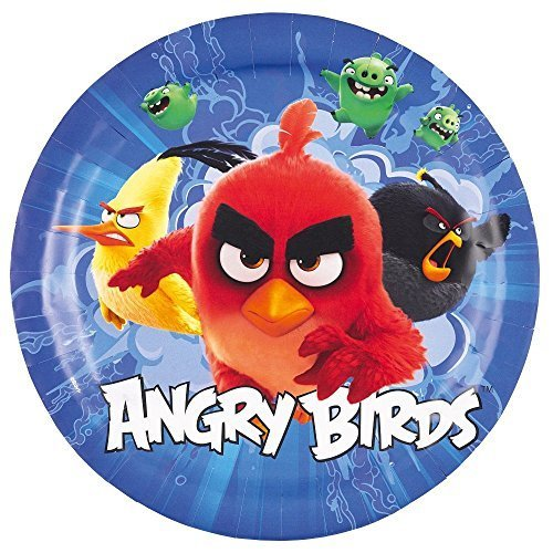 Amscan 9900927 – 8 flache Angry Birds