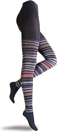 SANGIACOMO WE LOVE SOCKS Collant Donna in Viscosa e Angora, a righe colorate