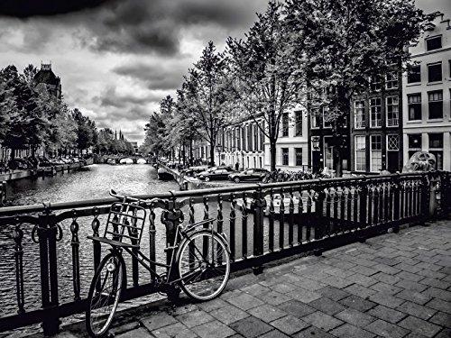 Artland Leinwand auf Keilrahmen oder gerolltes Poster mit Motiv Melanie Viola Amsterdam Keizergracht Städte Niederlande Amsterdam Fotografie Schwarz/Weiß A4EL