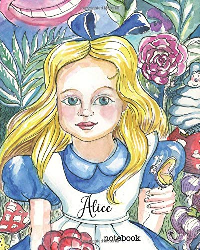 Alice Notebook: 160 page blank lined notebook for writing down anything you wish. Glossy softcover, perfect bound.