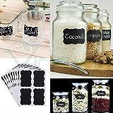Set Kit 36Etiketten selbstklebend Wiederverwendbar Tafel Küche Vorratsdosen Behälter