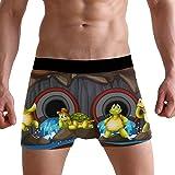 Jereee A Group of Turtle Underground Men's Underwear Soft Polyester Boxer Brief for Men Adult Teen Children Kids S