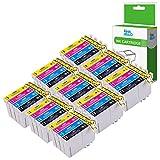 InkJello Kompatibel Tinte Patrone Ersatz für Epson Stylus Office BX305F BX305FW Plus Stylus S22 SX125 SX130 SX230 SX235W SX420W SX425W SX430W SX435W SX438W SX440W SX445W T1285 (B/C/M/Y, 36-Pack)