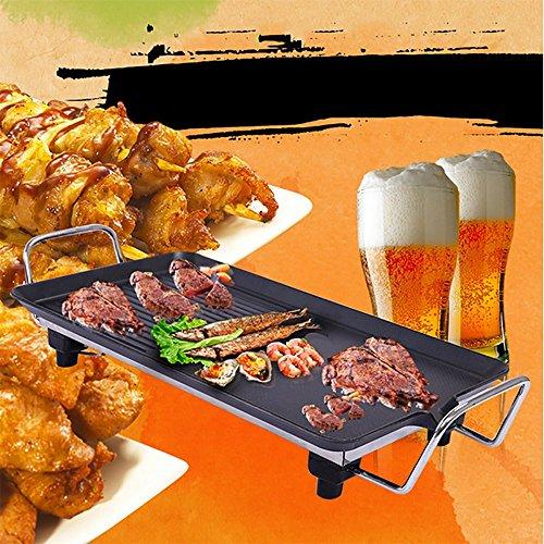 Teppanyaki Elektro-Grill - Indoor-Hot-Plate-BBQ Für Table Top Kochen - 1800W mit Heizungseinstellungen & 66Cm X 29Cm Antihaft-Kochplatte
