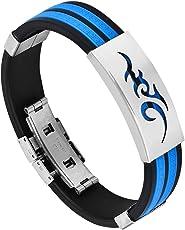 Sorella'Z Blue Alloy Chain Bracelet For Men