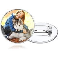 Custom4U Spilla personalizzata con foto/nome/monogramma, spille con testo personalizzato Pin Regali insoliti per uomo…