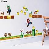 Super Mario Muurstickers Niet-giftige Jongens Kinderkamer Muur Papier Plakken Thuis Kinderen Slaapkamer Decors Muurschilderin