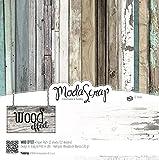 Renkalik renkalikmsa30bwe 30x 30cm Holz Effekt MS Papier Set (12-teilig)