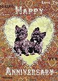 Happy Anniversary Hunde Grußkarte von Mimi
