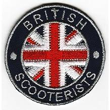 Sew-hierro-en parche con la bandera del Reino Unido británico consigna