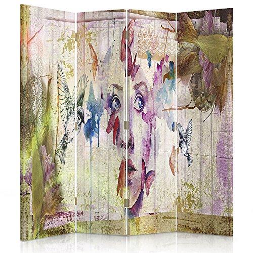 Feeby Frames. Raumteiler, Gedruckten aufCanvas, Leinwand Wandschirme, dekorative Trennwand,...