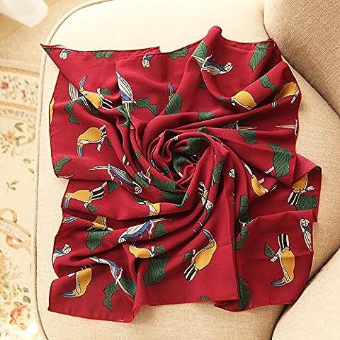 YRXDD Petite place le printemps et l'automne femme timbre polyvalent petits foulards foulard carré