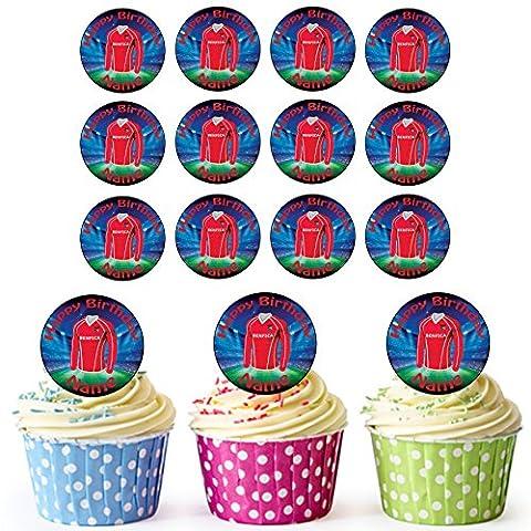 Benfica maillots de football 30personnalisé comestible pour cupcakes/décorations de gâteau d