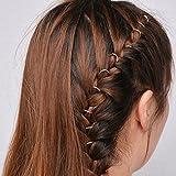 Bodhi2000 20Pcs Women's Girl's Cute Hand Cross Shell Leaf Ring Hair Rings Hair Clips Hair Jewelry for Braids Plaits (Silver Circle)
