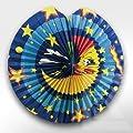 Kogler Triangle Moon Plus Sterne Flammschutzmittel Lampion in Tasche, mehrfarbig, 33cm