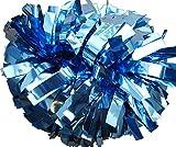 Cheerleading Pom Pom, metallico Columbia Blu