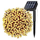 Solar Powered String Lights 200 LEDs 72ft 22M Twinkle Fairy Waterproof IP65 Outdoor Rope Decorative Light for Christmas Tree,Party,Wedding,Festival Holiday,Indoor,Garden,Patio,Decorations (Warm white)