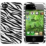 Weiß/Schwarz Zebra Handytasche Tasche Hülle Case Etui für Apple iphone 4 S 4S 4G