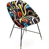 Seletti Toiletpaper Padded Chair Snakes Sedia Imbottita con Decoro Serpenti