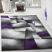 Tappeto Design Moderno A Quadri Lavorato A