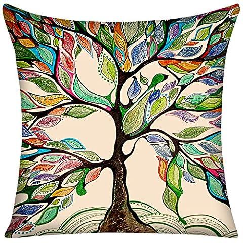 Violetpos 40 x 40 cm Kissenbezug Lebenszitate Bunt Baum Home Decor Werfen Kissen