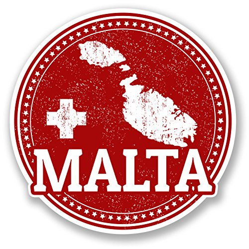 2-x-malta-sticker-car-bike-ipad-laptop-helmet-travel-maltese-map-flag-gift-4285-10cm-x-10cm