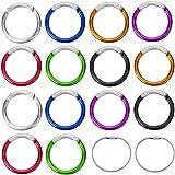 Vidillo Karabijnhaak, sleutelhanger, karabijnhaak, set, 14 stuks, aluminium, D-ring, karabijnhaak, clip met 2 roestvrijstalen