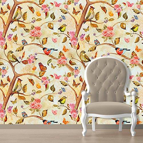 Paper Plane Design Nature Wallpaper Pvc Vinyl 41 Cm X 1 Cm X 615 Cm Multicolour 45 Sq Ft 3 Pieces