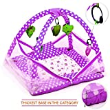 #6: Weavers Villa Baby Kick and Play Gym with Mosquito Net, Hanging Toys and Baby Bedding Set (0-12 Months)
