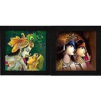 SAF Radha Krishna UV Coated Home Decorative Gift Item Framed Painting 12 inch X 12 inch SAANF6137+SAF Radha Krishna UV…