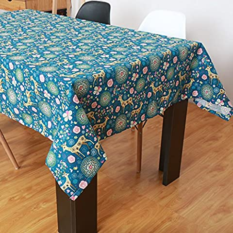 Natale all'aperto della tovaglia libro stampato/ tessuti di cotone e lino/Country americano rettangolare Tavolino-panno/ Gabe-C