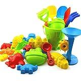 JUNGEN Jouet Sable Plage Jeux Plage Jardin Bac Plastique Cadeau Coloré pour Bébé Enfant Seau Jouets Ensemble De 25