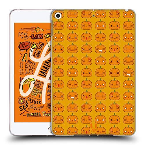 Head Case Designs Kürbis Muster Halloween Kawaii Soft Gel Huelle kompatibel mit iPad Mini (2019)