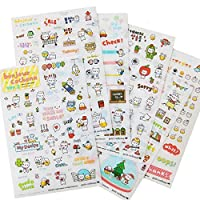 KINGSO DIY Cartoon Cute Cat Sticker Label Bookmark Diary Decoration Sticky Post