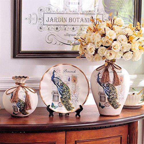 ceramica-jarron-con-flores-creativo-estilo-europeo-tres-conjuntos-home-living-habitacion-decoracion-