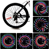 Bike Rim Lights, Bliplus Bicycle Spoke lights Ultra Bright LED Waterproof Wheel Light 32LED/32Patterns Bicycle Rim Light, String Colorful Bicycle Tire Accessories