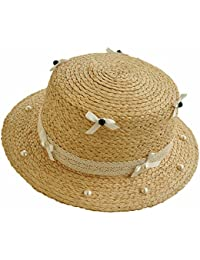 Aszhdfihas Sombrero de Playa Sombrero de Sun Sun Bowknot Color Puro  Primavera Verano Sombrero de Paja 54defd0c4b6