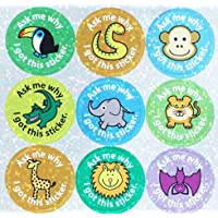 "The Sticker Factory 28 mm""Zoo Collection - Ask me why I got This Sticker"" Sparkly Reward Sticker (Pack of 54)"