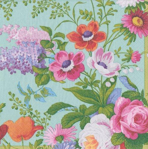 Caspari Servietten Floral Garden Party Hochzeit Garten Lunch Napkin Pack of 40 mehrfarbig
