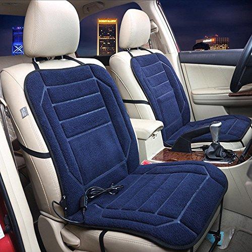 Sunmoch Auto Sitzheizung Auto Universal Winter Beheizbar Abdeckung 12V Auto Sitzkissen Heizkissen (Blau)