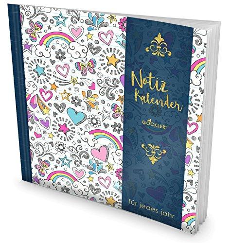 Tag-planer Für Kids (GOCKLER® Notiz-Kalender: Universaler Tagebuch-Kalender || 1 Zeile pro Tag + Notizseiten + Glänzendes Softcover || Ideal für Geburtstage, To Do's & Termine || DesignArt.: Girl Pattern)