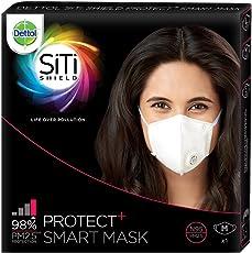 Dettol Siti Shield Protect+ N95 Anti-Pollution Smart Mask, Unisex (Medium)