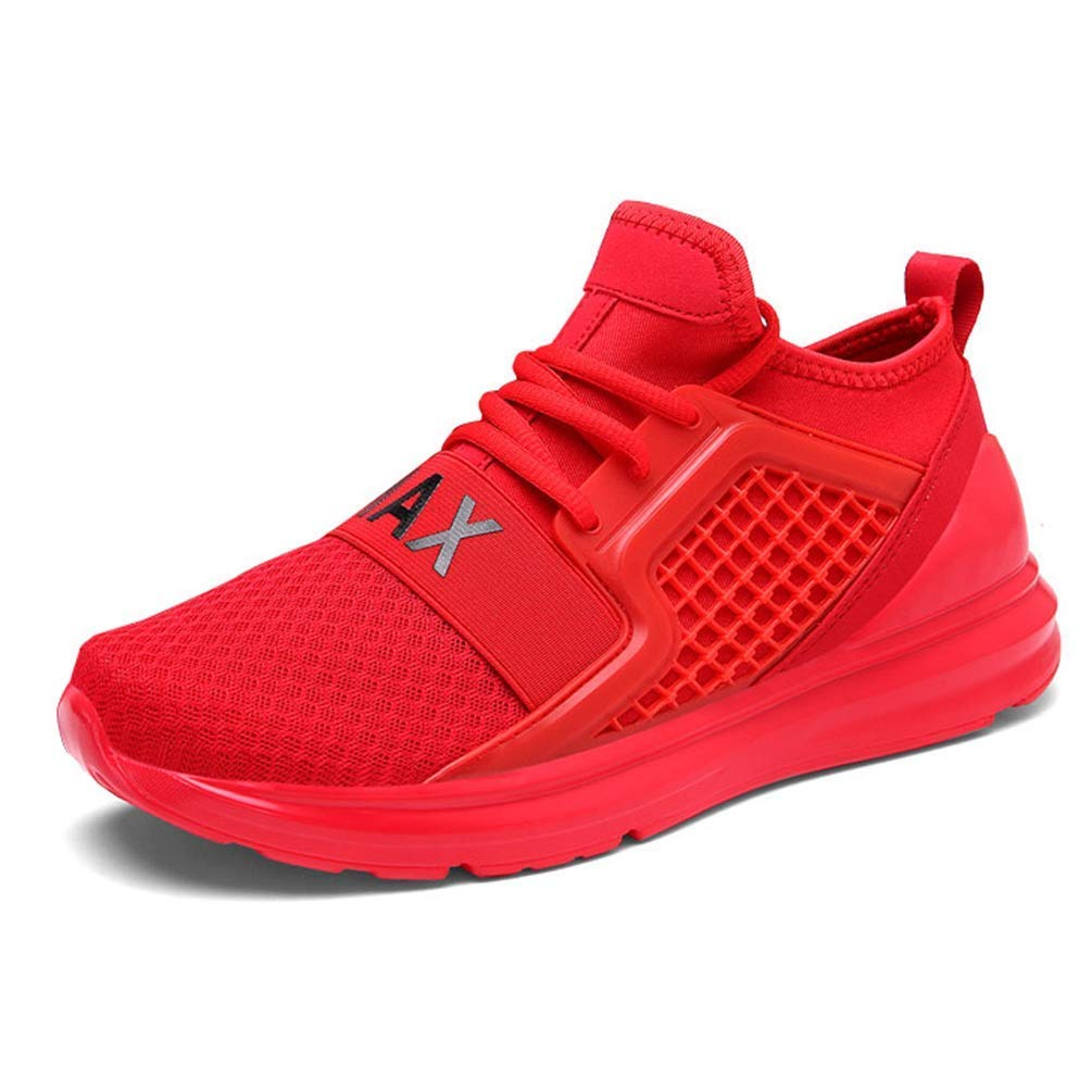 d3bdae706bb8 Qiusa Unisex Running Sports Shoes Men Women Lightweight Outdoor Sport  Sneakers Breathable Mesh Shoes (Color : Red, Size : 10UK=45EU)