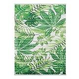 Lichtblick Plissee Klemmfix, ohne Bohren, blickdicht, Blätter - Grün 80 x 130 cm