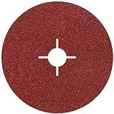 Wolfcraft 2462000 - 5 discos de lijar para amoladora, grano 60 ø 115 mm