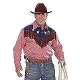 Widmann wdm1573r–Déguisement Pour Adultes Chemise Rodeo Cowboy, rouge, M