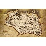 Athah Designs The Elder Scrolls V - Skyrim Map Wall Poster 13*19 Inches Matte Finish