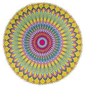 OOTB Out of the blue - Toalla de Playa, diseño de Mandala, Color Amarillo y Rosa
