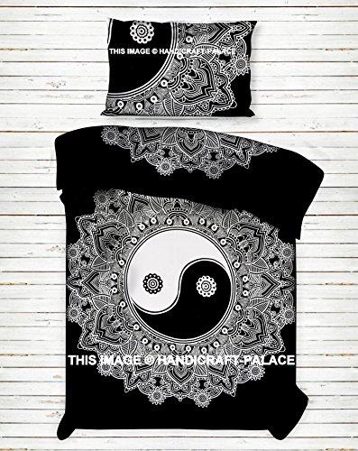 n Yang Ombre Mandala Baumwolle Bettbezug Twin Größe Tröster Bezug & Kopfkissen Fall, traditionelle dekorative Betten Set Bettdecke Decke ()