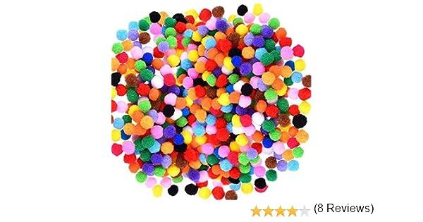 LABOTA 4000 pi/èces 1 cm Multicolore Pompons Arts et Artisanat Assortis de Pompons Balles pour Loisir Fournitures et cr/éatifs Mat/ériel de Bricolage